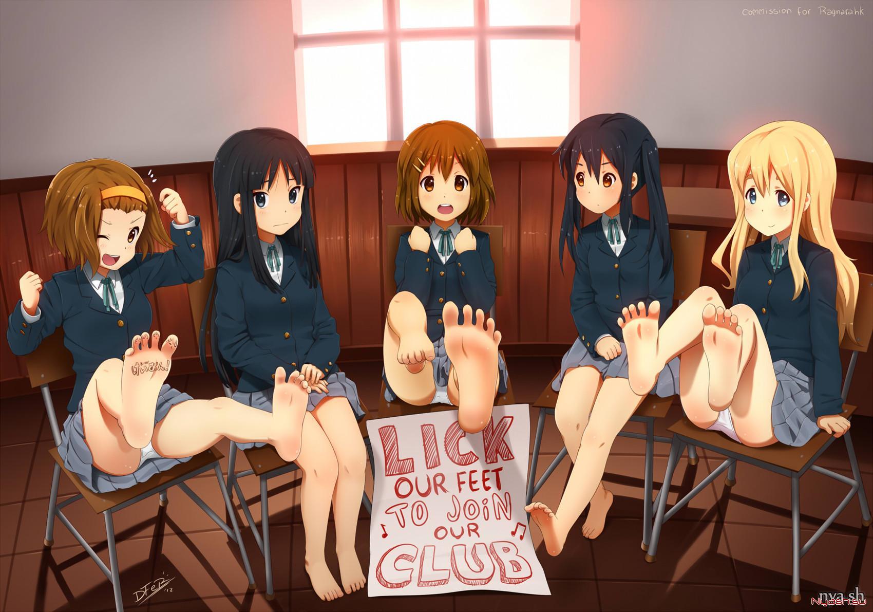 Feet anime naked uncensored women